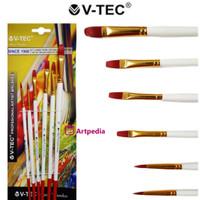 V-Tec Artist Brush 9052 Set 6 / Kuas Lukis Set 6