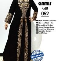 Jual gamis hitam, abaya bordir, gamis hitam elagan, Jumbo Size 2L - 4L Murah