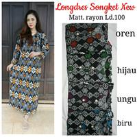 Jual Longdress batik pekalongan / baju menyusui / gamis rayon murah Murah