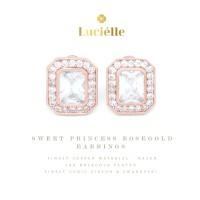 Lucielle Earring 18K White Gold Anting Premium High End Hadiah Wanita