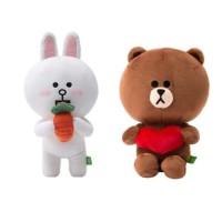ORIGINAL Boneka Line Brown dan Cony Boneka Couple 25cm Kado Anak