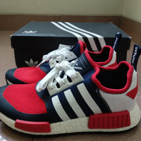 7c97ddd319322 Adidas NMD R1 PrimeKnit Trail x White Mountaineering - Navy Red