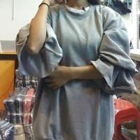 Big Lolly Lengan Panjang Balon Blouse Big Size Baju Atasan Wanita Big