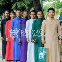 Jubah Gamis Pria Slimfit Baju Koko Muslim Laki-Laki Elrah Malaysia