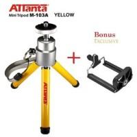 Cam store terbaru Tripod Mini Attanta M-103A + Holder for Camera, Hp