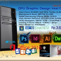 Komputer PC Rakitan Office Desain Grafis Intel Core i5