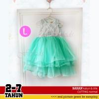 Dress pesta ulang tahun anak FK67 L tosca Good Quality