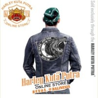 Jaket Parka Kulit Jaket Harley Davidson Patch Badge Bordir BAD WOLVES