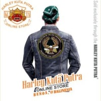 Jaket Parka Kulit Jaket Harley Davidson Patch Badge Bordir Series 9