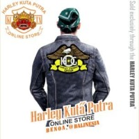 Jaket Parka Kulit Jaket Harley Davidson Patch Badge Bordir Series 7