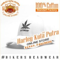 Topi Harley Davidson Marijuana Cigarette Vapor Import Bordir Caferacer