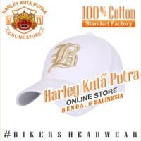 Topi Baseball B Putih Bordir Import Tactical Harley Davidson Exclusive