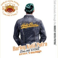 Jaket Parka Kulit Jaket Harley Davidson Patch Badge Bordir Series 12