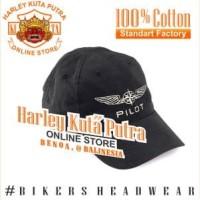 Topi Harley Davidson Pilot Import Pilots Bordir Import Caferacer Shank
