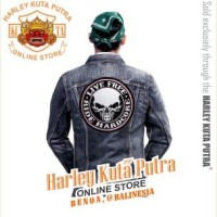 Jaket Parka Kulit Jaket Harley Davidson Patch Badge Bordir Series 1