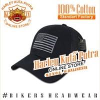 Topi Harley Davidson Military Import Boomber Import Bordir Pria