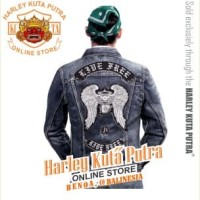 Jaket Parka Kulit Jaket Harley Davidson Patch Badge Bordir Series 16
