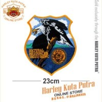 Jaket Parka Kulit Jaket Harley Davidson Patch Badge Bordir Series 8