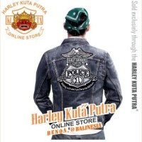 Jaket Parka Kulit Jaket Harley Davidson Patch Badge Bordir Series 17