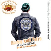 Jaket Parka Kulit Jaket Harley Davidson Patch Badge Bordir Series 5