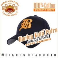 Topi Baseball B orange Hitam Raphel Harley Davidson Exclusive