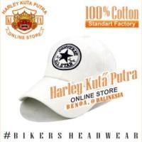 Topi Baseball White Converse Putih Import Harley Davidson Exclusive