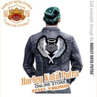 Jaket Parka Kulit Jaket Harley Davidson Patch Badge Bordir Series 18