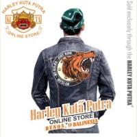 Jaket Parka Kulit Jaket Harley Davidson Patch Badge Bordir Serigala