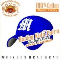 Topi Baseball M Blue Bordir Import Harley Davidson Exclusive