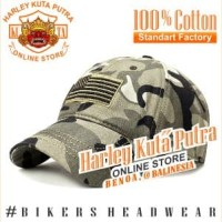 Topi Import Harley Bikers World War Military Boomber Import Bordir