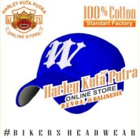 Topi Baseball W Blue Import Harley Bordir Import Harley Davidson