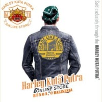 Jaket Parka Kulit Harley Davidson Patch Badge Bordir Royal Enfield