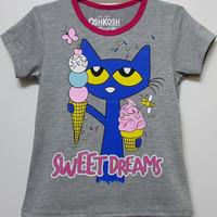 Baju kaos karakter anak perempuan oshkosh sweet dream 1-6
