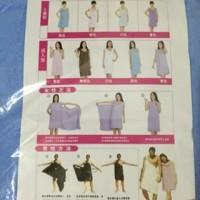 Baju Handuk Mandi Multifungsi Wearable Towel Bisa Gendong Bayi AC026