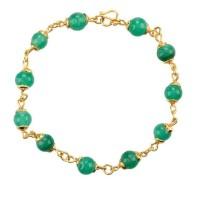 Green Jade Bracelet (Giok Muda Lapis emas)