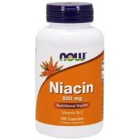 NOW NIACIN 500 MG, 100 CAPSULES