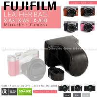 Fujifilm X-A10 / XA10 Leather Bag / Case / Tas Kamera - Cokelat Tua