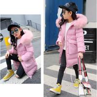 Winter Coat Girls Long Padded Jacket Kids Thickening hooded