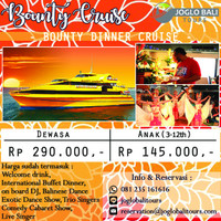Harga voucher tiket bounty dinner cruise anak | antitipu.com