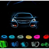 Lampu Interior Mobil LED Neon RGB 3 Meter with 12V Inverter - Red