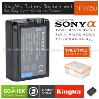 Kingma Baterai NP-FW50 Sony Battery A7R A5000 A5100 A6000 A6300 NEX