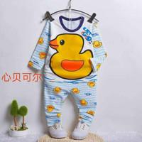 Baju tidur anak gambar bebek utk 6-8th