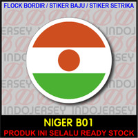 Patch Badge Flock BORDIR BENDERA - NIGERIA NIGER [B01]