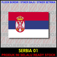 Patch Badge Flock BORDIR BENDERA - SERBIA [01]