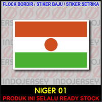 Patch Badge Flock BORDIR BENDERA - NIGERIA NIGER [01]