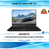 "GIGABYTE AERO 15W V8 I7-8750H 16GB 512GB GTX1060 15,6""FHD 144Hz W10"