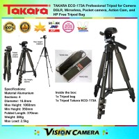 TAKARA ECO-173A Professional Tripod for Camera DSLR, Mirrorless, Cam