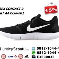 Sepatu Running Nike Flex Contact 2 Black White Original AA7398-001 e5a19b0e97