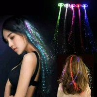 Jepitan Rambut Trendy Led Wig Fiber Optic Flash light