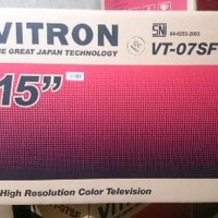 TV TABUNG 14 inch VITRON VT-07SF FREE ANTENA DALAM Berkualitas